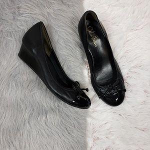 COLE HAAN Nike Air Black Mary Jane Wedge Heel